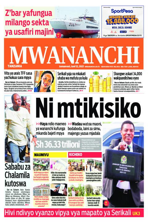 NI MTIKISIKO  | Mwananchi