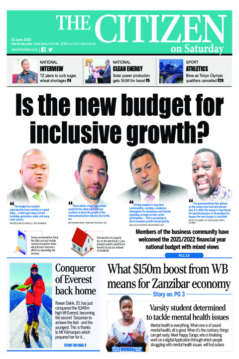 IS THE NEW BUDGET FOR INCLUSIVE GROWTH  | The Citizen
