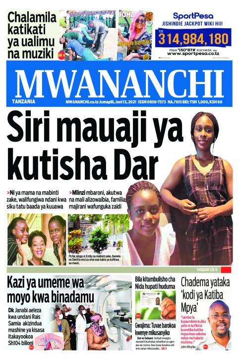 SIRI  MAUAJI YA KUTISHA DAR  | Mwananchi