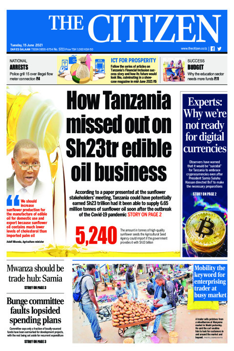 HOW TANZANIA MISSED OUT ON SH23TR EDIBLE OIL BUSINESS  | The Citizen
