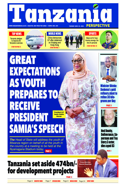 GREAT EXPECTATIONS AS YOUTH PREPARES TO RECEIVE PRESIDE | Tanzania Perspective