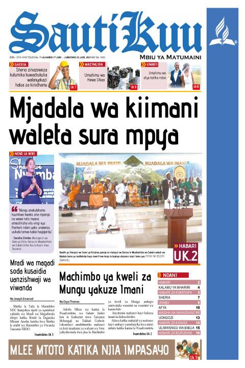 Mjadala wa Kiimani waleta sura mpya | Sauti Kuu Newspaper