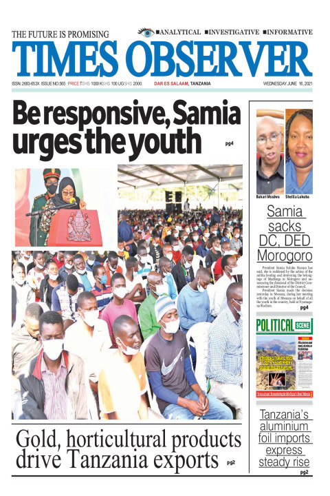 Be responsive, Samia urges the youth | Times Observer