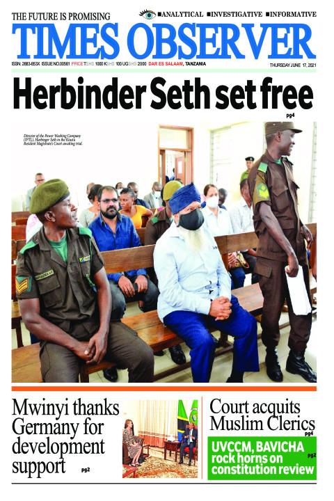 Herbinder Seth set free | Times Observer
