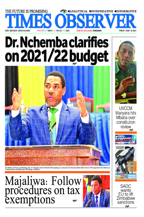 Dr. Nchemba clarifies on 2021/22 budgetDr. Nchemba clarifies | Times Observer