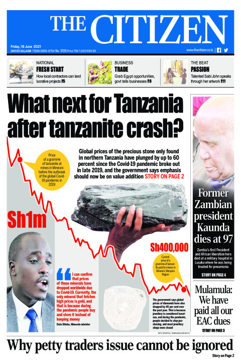 WHAT NEXT FOR TANZANIA AFTER TANZANITE CRASH?  | The Citizen