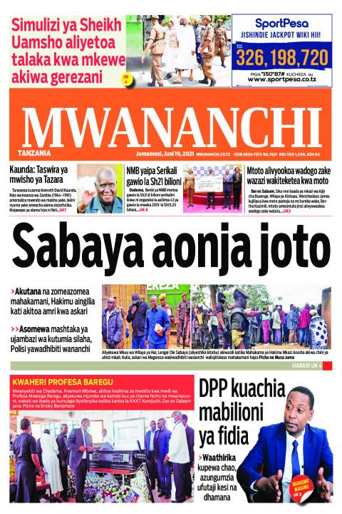 SABAYA AONJA JOTO  | Mwananchi