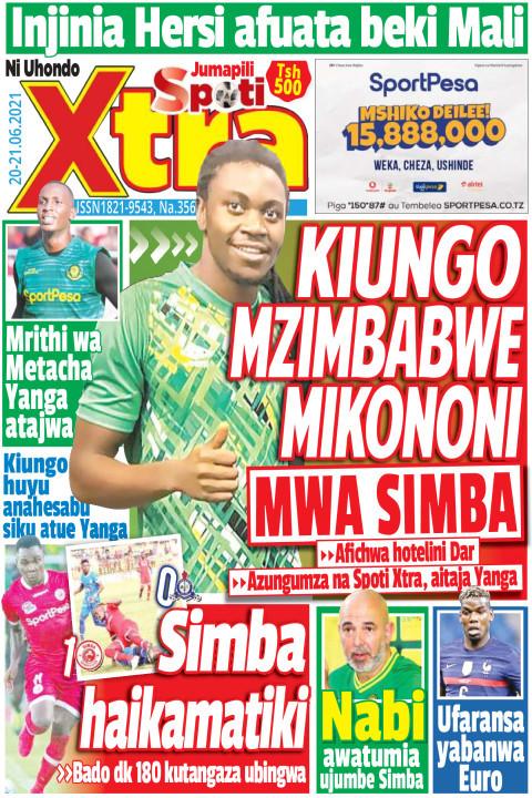 KIUNGO MZIMBAMBWE MIKONONI MWA SIMBA | SpotiXtra Jumapili