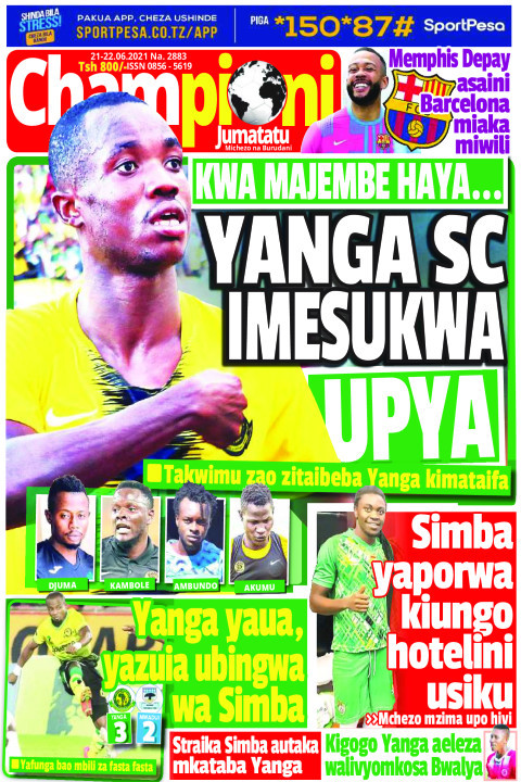 YANGA SC IMESUKWA UPYA | Champion Jumatatu