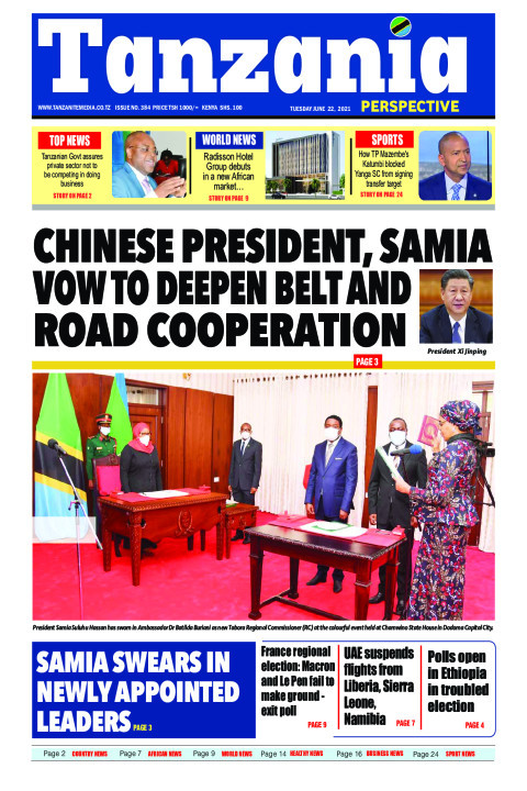 CHINESE PRESIDENT, SAMIA VOW TO DEEPEN BELT AND ROAD COOPE | Tanzania Perspective