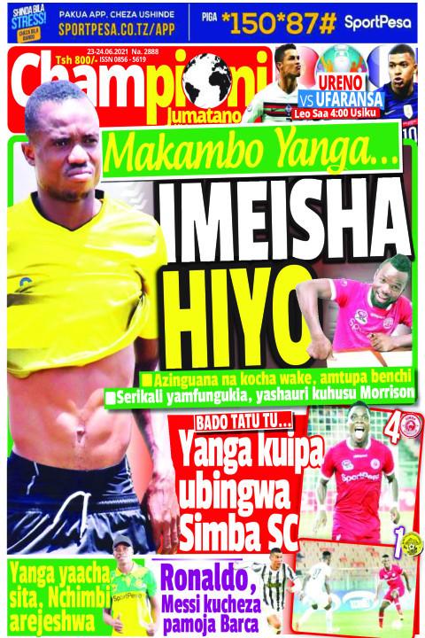 IMEISHA HIYO | Champion Jumatano