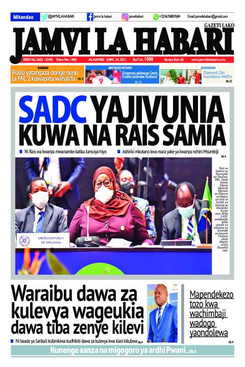 SADC YAJIVUNIA KUWA NA RAIS SAMIA  | Jamvi La Habari
