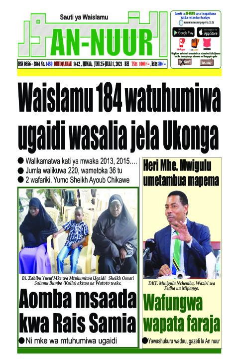 Waislamu 184 watuhumiwa ugaidi wasalia jela Ukonga | Annuur