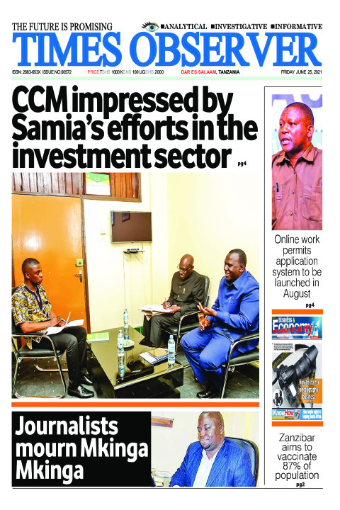 CCM impressed by Samia's efforts in the investment sector | Times Observer