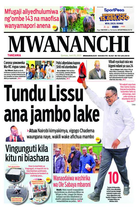 TUNDU LISSU ANA JAMBO LAKE  | Mwananchi