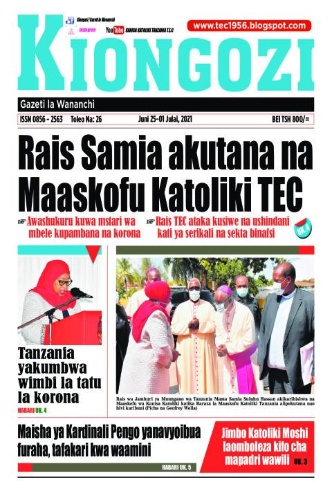 Rais Samia akutana na Maaskofu Katoliki TEC | Kiongozi