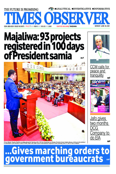 Majaliwa: 93 projects registered in 100 days of President Sa | Times Observer
