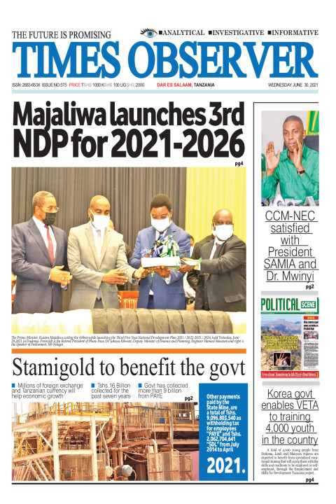 Majaliwa launches 3rd NDP for 2021-2026 | Times Observer