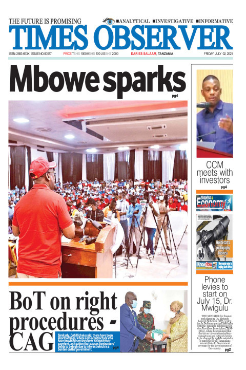 Mbowe sparks | Times Observer