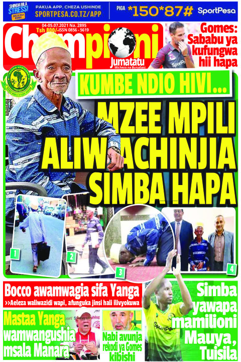 MZEE MPILI ALIWACHINJIA SIMBA HAPA | Champion Jumatatu