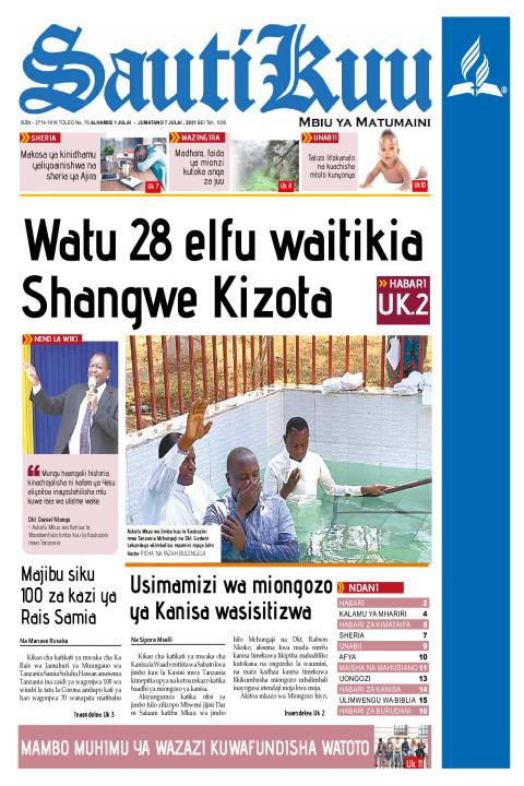 Watu 28 elfu waitikia Shangwe katika njia yake | Sauti Kuu Newspaper