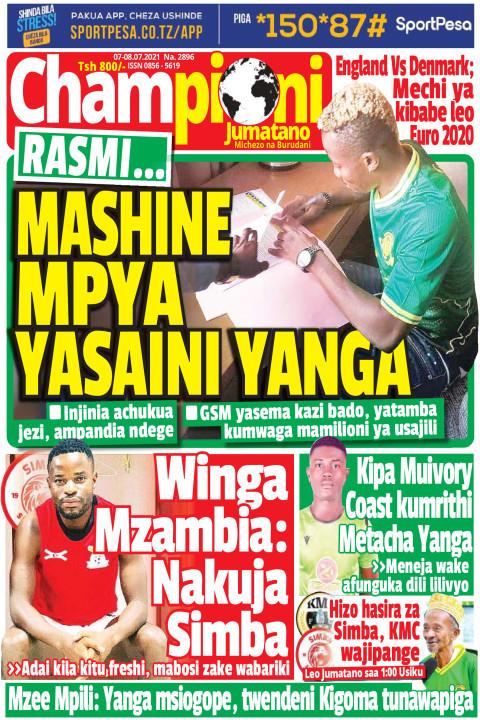 MASHINE MPYA YASAINI YANGA | Champion Jumatano