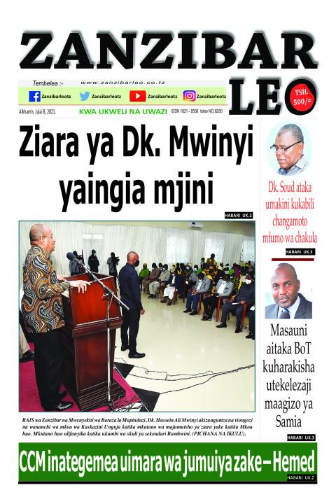 Ziara ya Dk. Mwinyi yaingia mjini | ZANZIBAR LEO