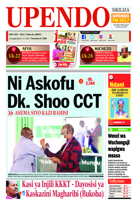 Ni Askofu Dk. Shoo CCT | Upendo