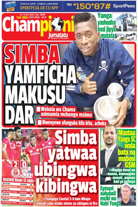 SIMBA YAMFICHA MAKUSU DAR | Champion Jumatatu