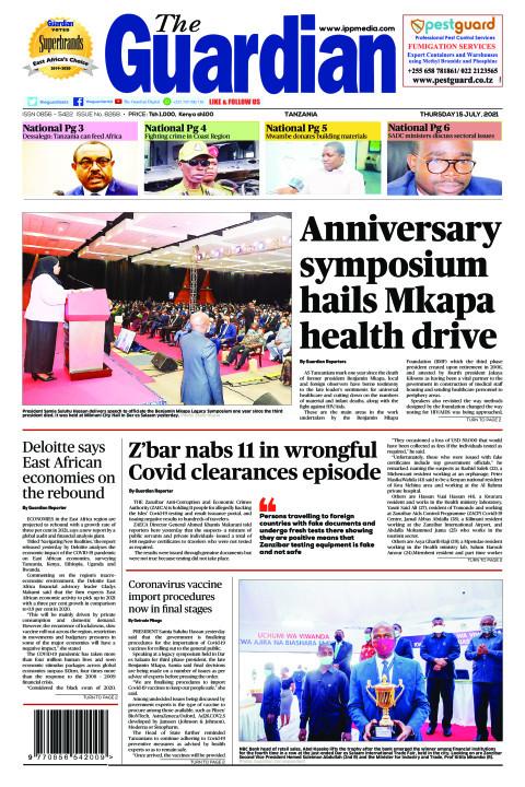 Anniversary symposium hails Mkapa health drive | The Guardian