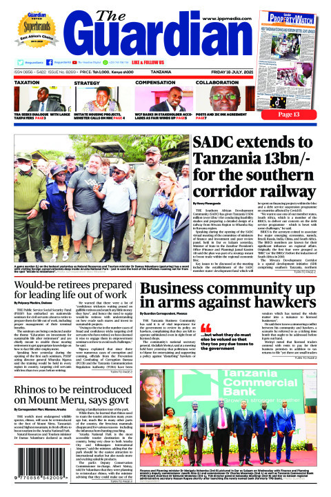 SADC extends to Tanzania 13bn/- for the southern corridor ra | The Guardian