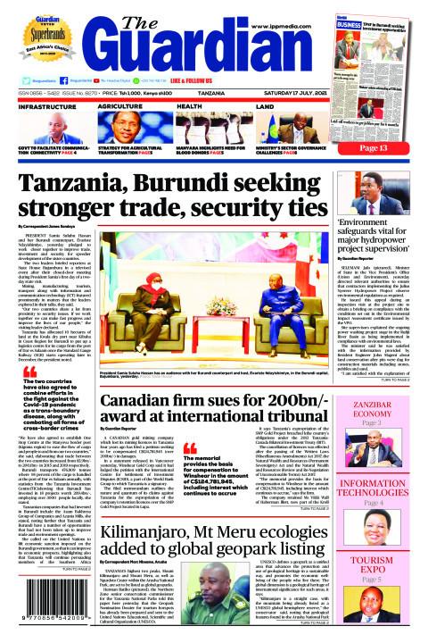 Tanzania, Burundi seeking stronger trade, security ties | The Guardian