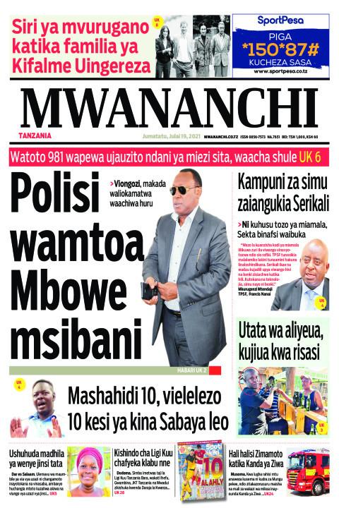 POLISI WAMTOA MBOWE MSIBANI    Mwananchi