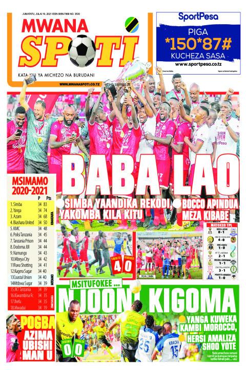 BABA LAO,MSITUFOKEE NJOONI KIGOMA  | Mwanaspoti