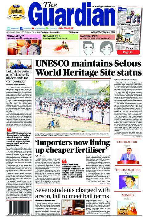 UNESCO maintains Selous World Heritage Site status  | The Guardian