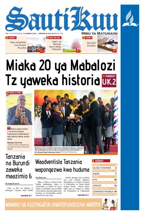 MIAKA 20 YA MABALOZI TZ YAWEKA HISTORIA | Sauti Kuu Newspaper