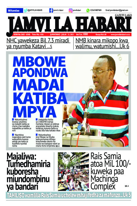 MBOWE APONDWA MADAI KATIBA MPYA | Jamvi La Habari