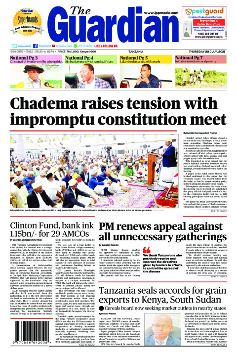 Chadema raises tension with impromptu constitution meet | The Guardian