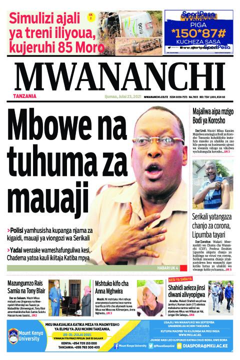 MBOWE NA TUHUMA ZA MAUAJI    Mwananchi