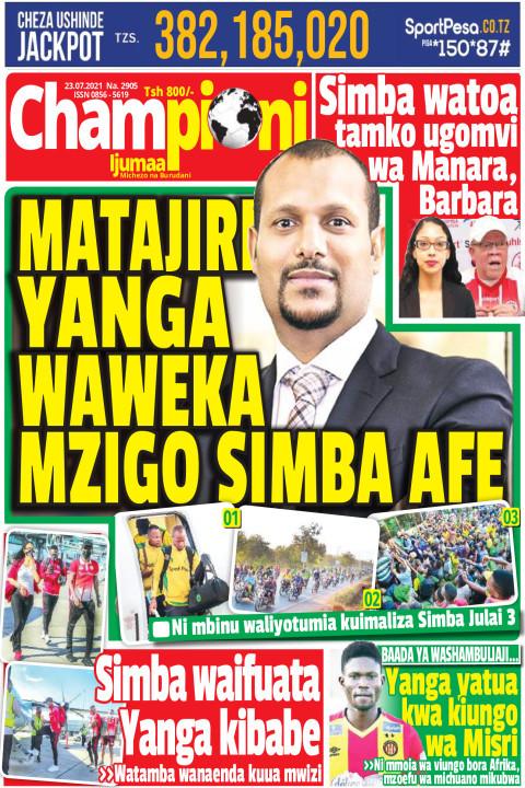 MATAJILI YANGA WAWEKA MZIGO SIMBA AFE | Championi Ijumaa