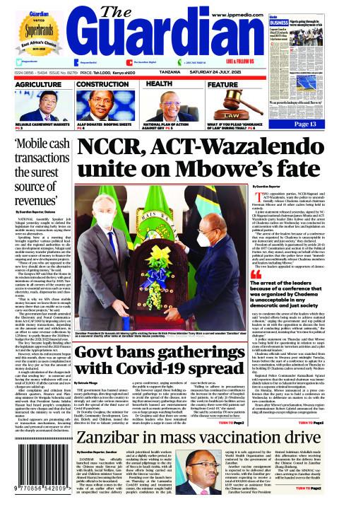 NCCR, ACT-Wazalendo unite on Mbowe's fate | The Guardian
