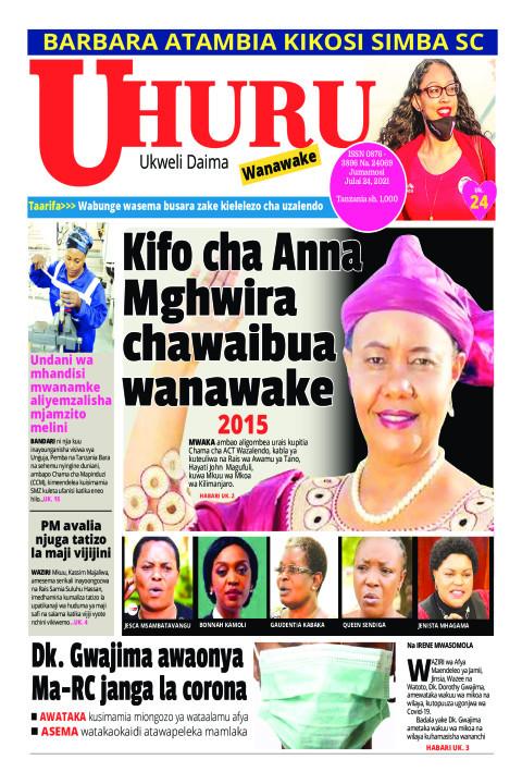 Kifo cha anna Mgwira chawaibua wanawake | Uhuru