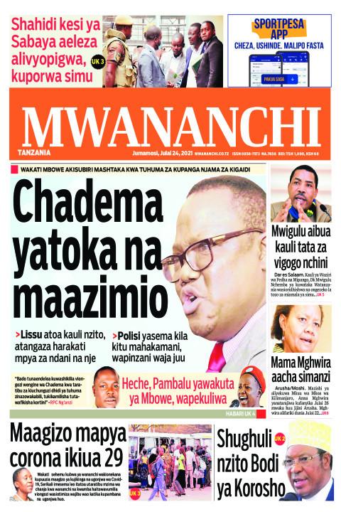 CHADEMA YATOKA NA MAAZIMIO    Mwananchi