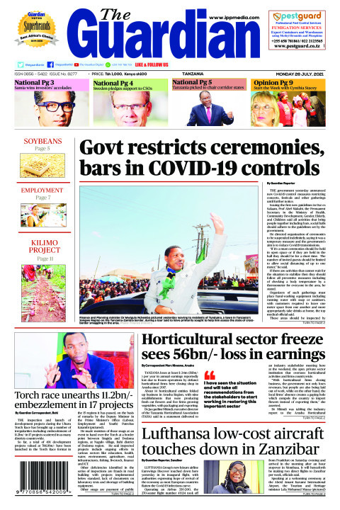 Govt restricts ceremonies, bars in COVID-19 controls | The Guardian