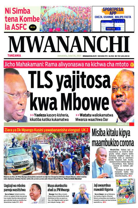 TLS YAJITOSA  KWA MBOWE    Mwananchi