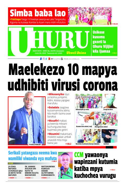 Maelekezo 10 mapya udhibiti virusi vya corona | Uhuru