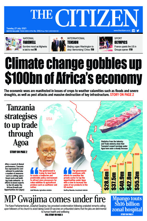 CLIMATE CHANGE GOBBLES UP $100BN OF AFRICA'S ECONOMY  | The Citizen