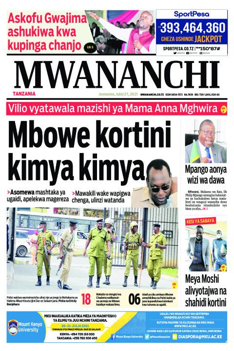 MBOWE KORTINI KIMYA KIMYA    Mwananchi