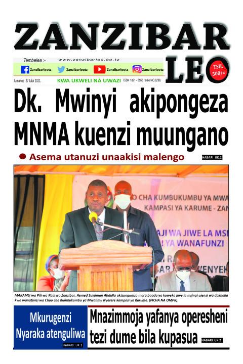 Dk. Mwinyi akipongeza MNMA kuenzi muungano | ZANZIBAR LEO