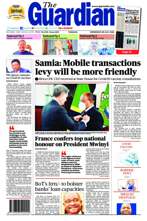 Samia: Mobile transactions levy will be more friendly | The Guardian